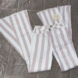Striped bell bottoms